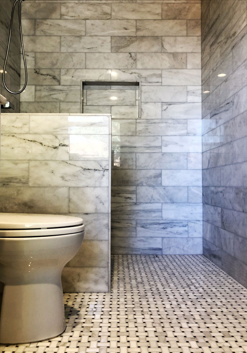 boulder tile bathroom