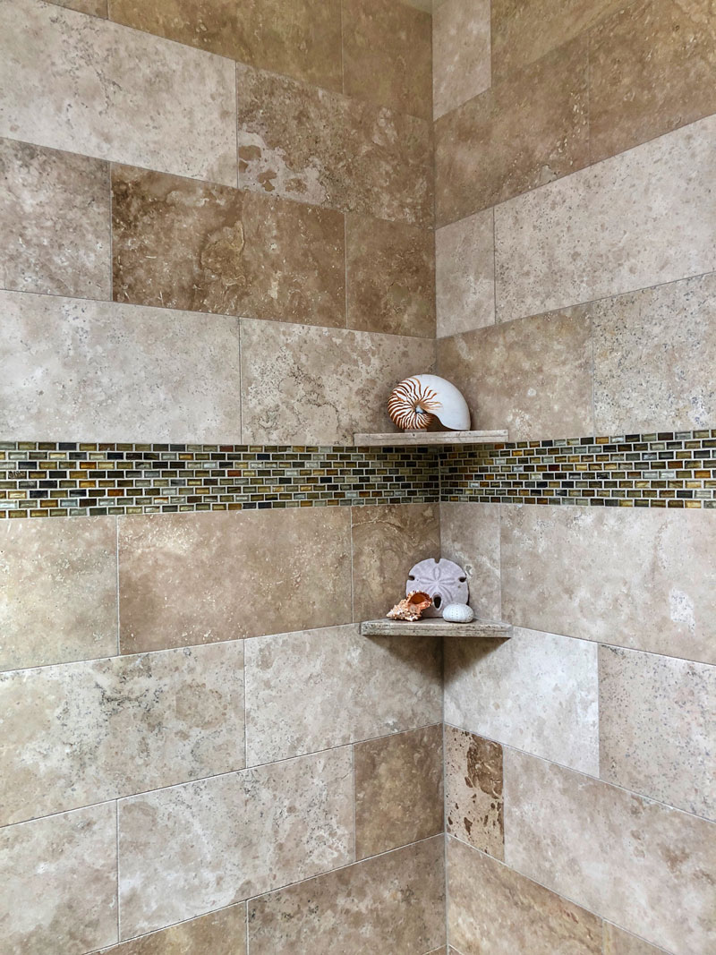 custom tile shower corner