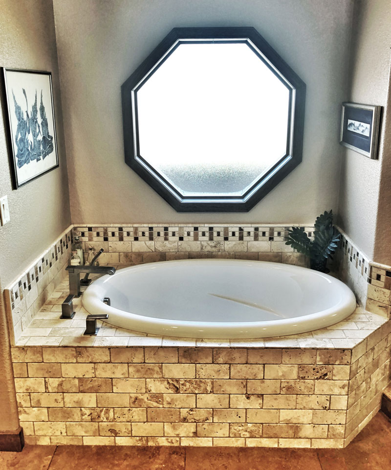 custom tile tub